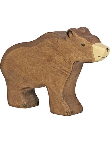 Figurine ours brun en bois - Animaux de la jungle Holztiger Holztiger {PRODUCT_REFERENCE}  En Bois - 1