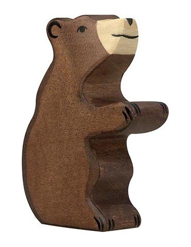 Figurine ours brun petit, assis en bois - Animaux de la jungle Holztiger Holztiger {PRODUCT_REFERENCE}  En Bois - 1