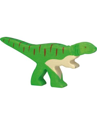 Figurine allosaures bois ? Dinosaure Holztiger Jouet Goki jeu libre montessori reggio monde miniature construction eco europe