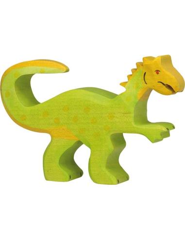 Figurine oviraptor bois Dinosaure Holztiger Jouet Goki jeu libre montessori reggio monde miniature construction eco europe