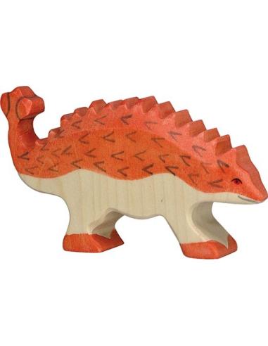 Figurine ankylosaure en bois - Dinosaure Holztiger Holztiger {PRODUCT_REFERENCE}  En Bois - 1