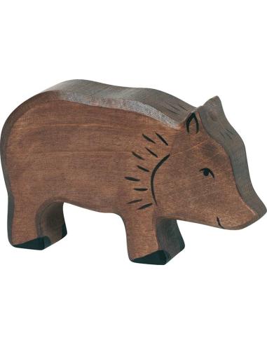 Figurine sanglier bois Animaux bois Holztiger Jouet Goki jeu libre montessori reggio monde miniature construction eco europe