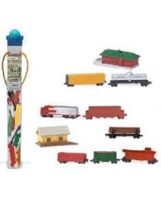 Lot de différents trains figurine educative montessori education