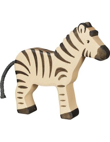 Figurine zèbre bois Animaux jungle Holztiger Jouet Goki jeu libre montessori reggio monde miniature construction eco europe