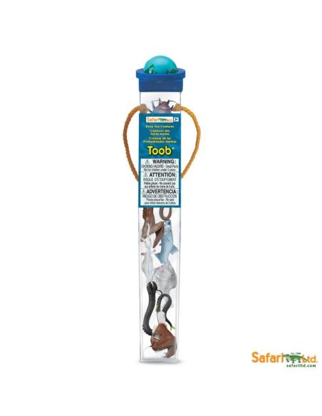 Figurines créatures des mers Tube Safari 688104 Matériel pédagogique Enrichissement Montessori Jouet Cartes maternelle science v