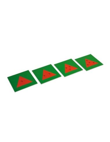 Triangles fractions en métal Matériel Montessori didactique sensoriel classe activite mathematiques