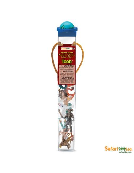 Figurines thème la mythologie Tube Safari 689904 Matériel pédagogique Enrichissement Montessori Jouet Cartes maternelle science