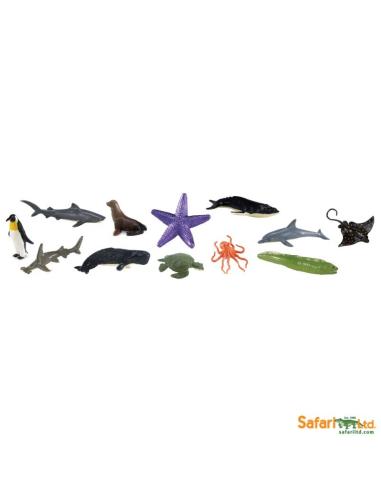 Figurines thème dans les océans Tube Safari 695104 Matériel pédagogique Enrichissement Montessori Jouet Cartes maternelle scienc