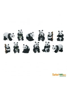 Pandas figurine educative montessori education