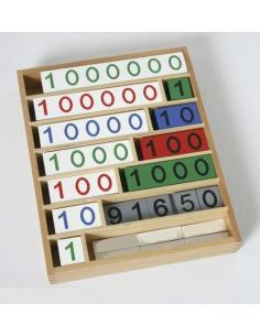Jeu de la banque Matériel Montessori didactique mathématiques