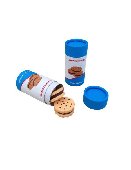 Paquet gâteaux jouet bois Type Prince gouter fourrés chocolat Dînette aliment superette