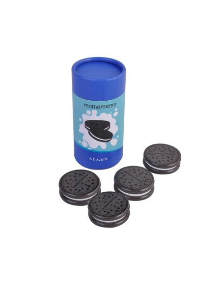 Paquet biscuits jouet bois style Oréo Dînette aliment nourriture cuisine poupee semblant
