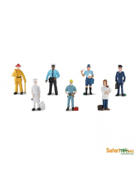Métiers figurine pompier facteur veterinaire vie socialeeducative montessori education enrichissement