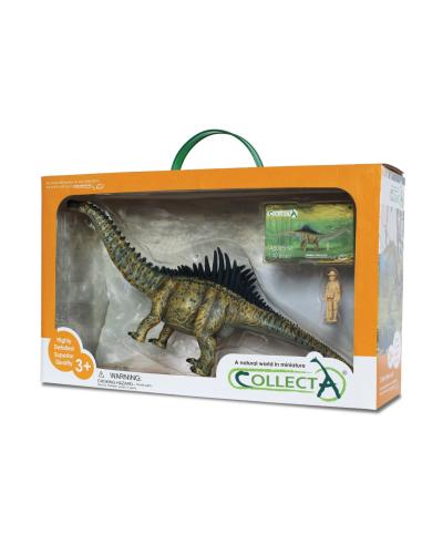 Figurine dinosaure agustinia Collecta 89164 Jouet réplique réaliste Collection Préhistorique Jurassic World carte enrichissement