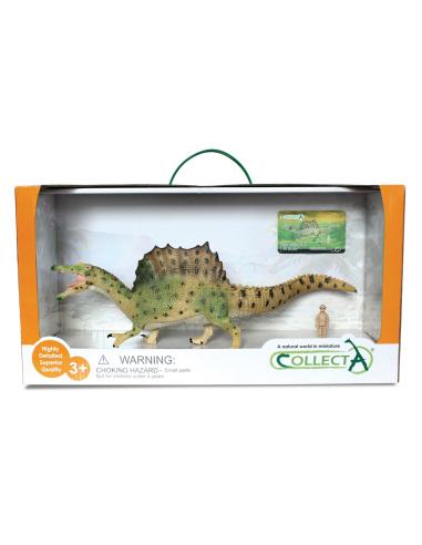 Figurine dinosaure spinosaurus (à mâchoire mobile) Collecta 89817 Jouet réplique réaliste Collection Préhistorique Jura carte en