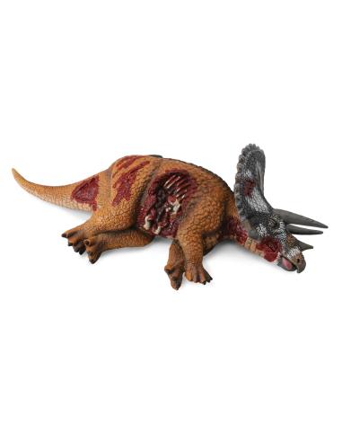 Figurine triceratops mort préhistoire proie 88528 Jouet réplique réaliste Collection Préhistorique Jurassic World carte enrichis