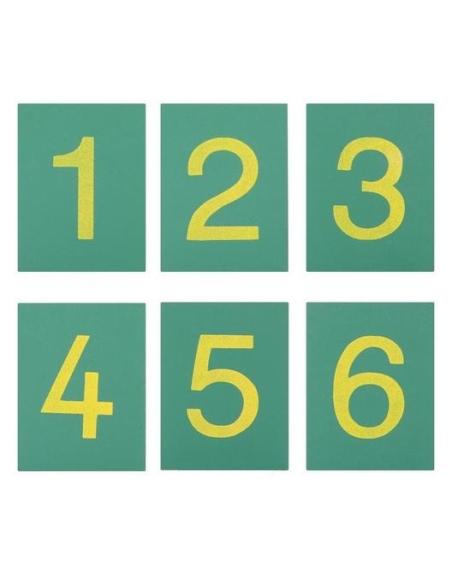 Chiffres symboles rugueux émeri Matériel Montessori didactique maternelle neuroscience