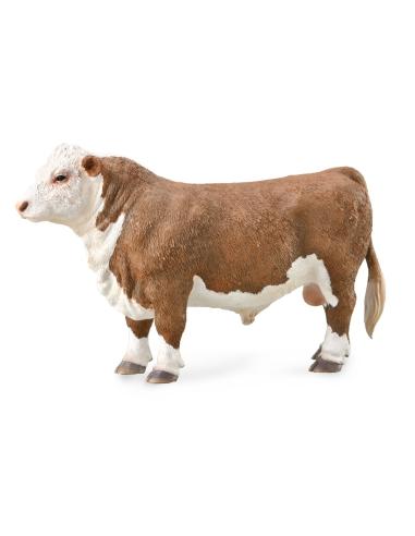 Figurine taureau hereford Collecta - Les animaux de la ferme 88861 Collecta {PRODUCT_REFERENCE}  Animaux de la ferme et domestiq