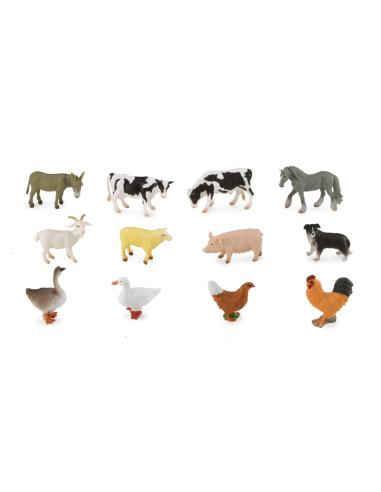 Figurines en tube de 12 des animaux de la ferme Collecta A1111 Collecta {PRODUCT_REFERENCE}  En lot - 1
