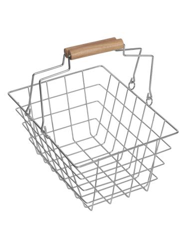 Panier en métal pour faire les courses - Jouet pour enfant épicier et marchande
