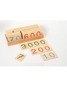 Très grand Symbole 1-9000 bois Matériel Montessori didactique operation calcul numeration