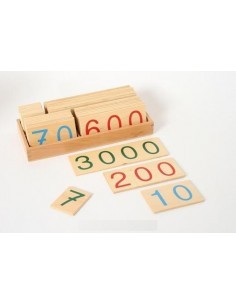 Très grand Symbole 1-9000 bois Matériel Montessori didactique