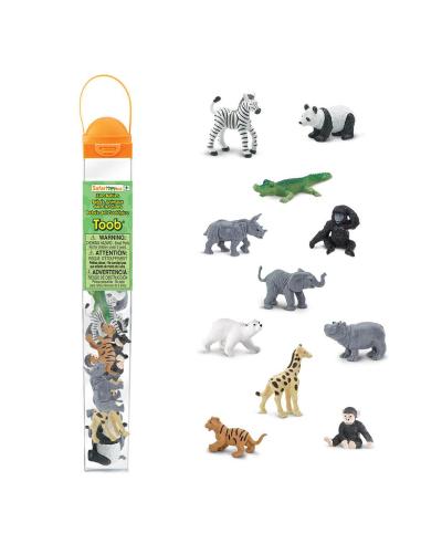 Figurines bébés des animaux sauvages - Tube Safari Ltd® 680004 Safari Ltd® {PRODUCT_REFERENCE}  Tubes et Toob® - 1
