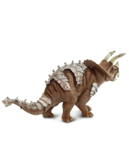 Figurine jouet Triceratops avec armure blindée - Dinosaure Safari 100712
