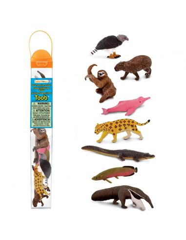 Tube lot de figurines animaux d'Amérique du Sud - Toob Safari 100416 Safari Ltd® {PRODUCT_REFERENCE}  Tubes et Toob® - 2