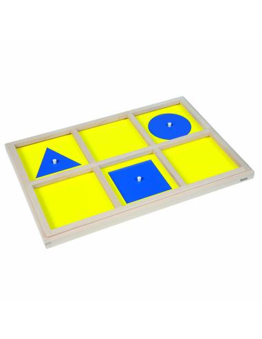 Plateau d'introduction au cabinet de géométrie  Montessori Nienhuis {PRODUCT_REFERENCE}  Sensoriel - 1