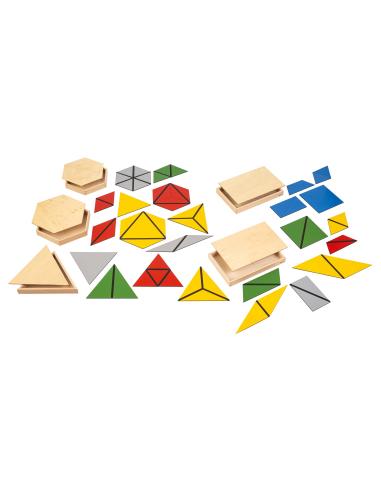 Triangles constructeurs Montessori Nienhuis {PRODUCT_REFERENCE}  Sensoriel - 1