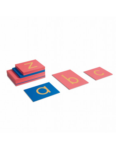 Lettres rugueuses minuscules, écriture d'imprimerie internationales Montessori Nienhuis {PRODUCT_REFERENCE}  Langage - 1