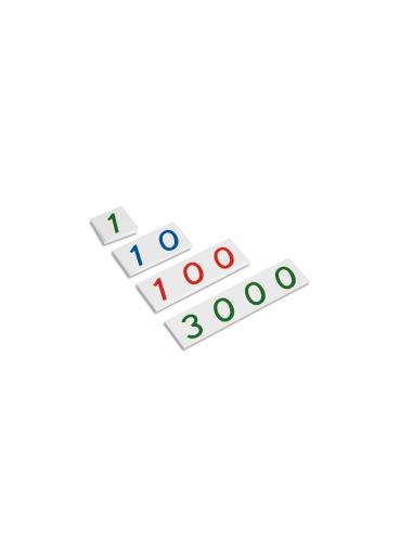 Petites cartes des symboles en plastique 1-3000 Montessori Nienhuis {PRODUCT_REFERENCE}  Mathématiques - 1