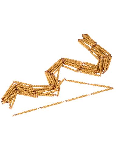 Chaine de 1000 perles-dorees, nylon Montessori Nienhuis {PRODUCT_REFERENCE}  Mathématiques - 1