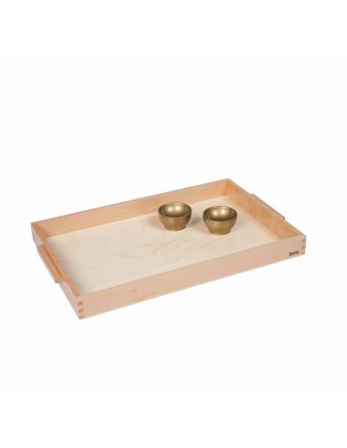 Plateau en bois + 2 coupelles pour unités Montessori Nienhuis {PRODUCT_REFERENCE}  Mathématiques - 1