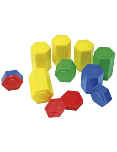 Poids colorés emboitables - 54 pièces en plastique Autres {PRODUCT_REFERENCE}  Poids (masse) - 2