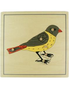Puzzle oiseau zoologie botanique Matériel Montessori didactique
