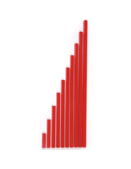 Barres rouges Matériel Montessori didactique ambiance sensoriel activite pedagogique educatif maternelle