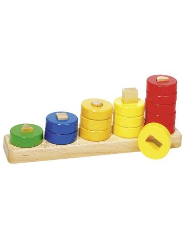 Apprendre compter anneaux chiffre nombre matériel didactique matériel montessori encastrement forme geometrique couleur creche b