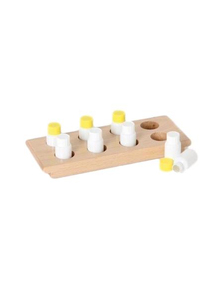 Flacons odeurs sensoriel montessori materiel didactique 5 sens olfactif activité pedagogie maternelle cognitif