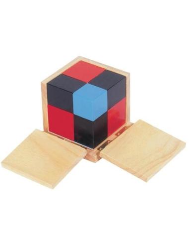 Cube binôme materiel montessori didactique sensoriel mathe identite remarquable pedagogie activite maths
