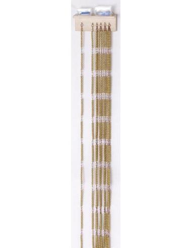 Chaîne cent 100 perle dorée Montessori materiel didactique