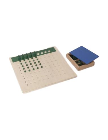 Tableau de la division avec billes Montessori LesMinis Montessori 109579  Mathématiques - 1