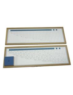 Table tableau mémorisation divisions Montessori materiel didactique maternelle primaire apprendre