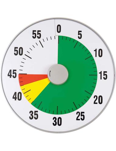 Minuteur XL Ø 32 cm silencieux à piles (2 x AA non inc.) Autres {PRODUCT_REFERENCE}  Heure (temps) - 1