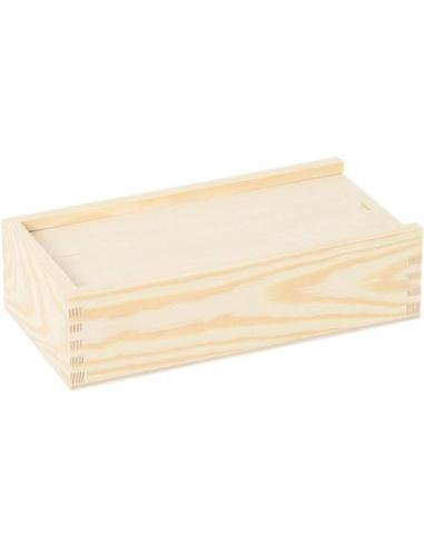 Boîte en bois brut Montessori vie pratique materiel ecole