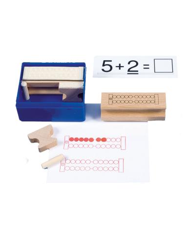 Lot tampons boulier abaque materiel didactique mathematiques exercices cahier ecole primaire