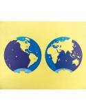 Puzzle du planisphère et des mers et océans