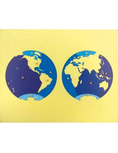Puzzle carte planisphère contient mappemonde matériel montessori terre mer rugueux