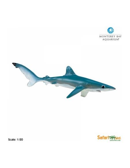 Figurine requin bleugéant Safari 211802 Matériel pédagogique Enrichissement Montessori Jouet Cartes maternelle science vocabula